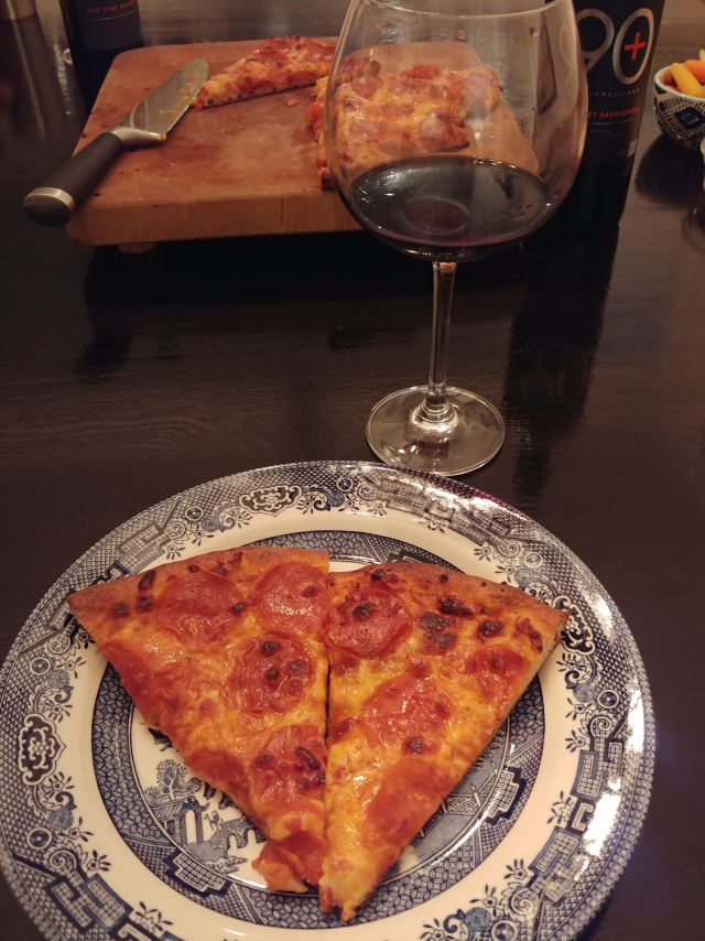 PepperoniPizzaSliceWine